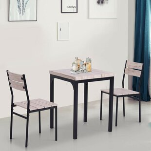 Saylor Rustic Country 3 Piece Dining Set