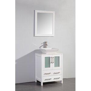 24 bathroom vanity with sink. Leyla 24  Single Bathroom Vanity Set with Mirror Vessel Sink Vanities You ll Love Wayfair
