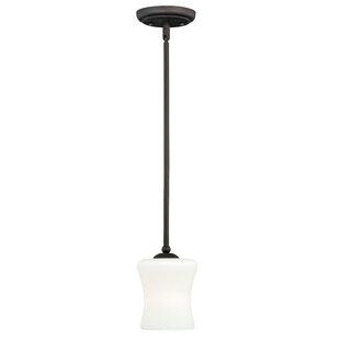 Porcaro 1-Light Bell Pendant by Loon Peak