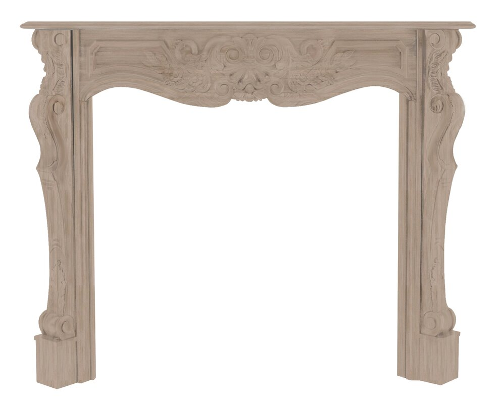A beautiful French style Louis XV French Provincial, hand-carved wood ornate fireplace mantel and surround for your French Country or French farmhouse decor needs. #FrenchCountry #FrenchFarmhouse #EuropeanCountry #fireplacesurround