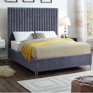Everly Quinn Fuiloro Velvet Upholstered Platform Bed