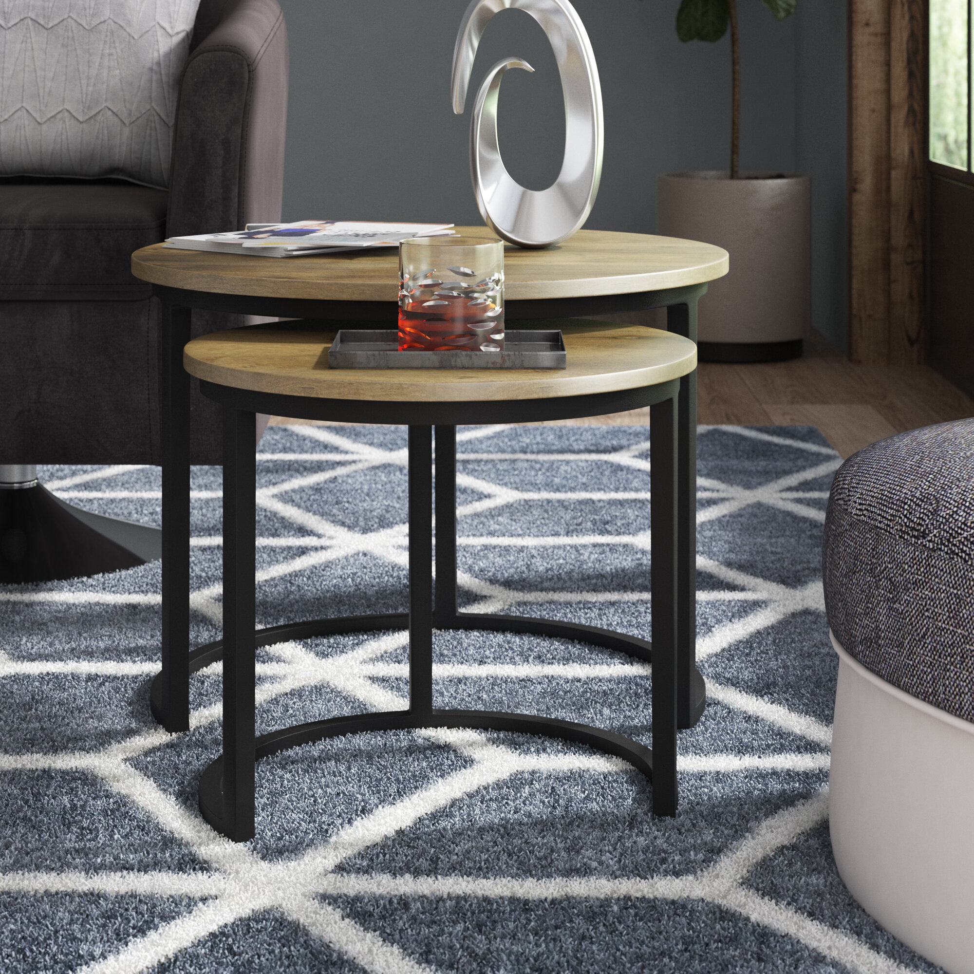 17 Stories St. Lucie 2 Piece Coffee Table Set & Reviews | Wayfair.co.uk
