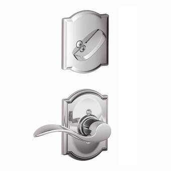 Schlage Inactive Interior Camelot Lever Dummy Entry Set Exterior Portion Sold Separately Wayfair