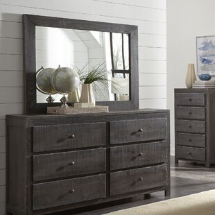 Sedgefield 6 Drawer Double Dresser With Mirror by Three Posts #1