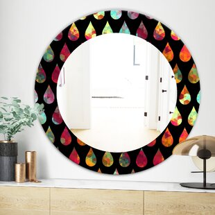 Obsidian Impressions 8 Modern  Contemporary Wall Mirror by East Urban Home