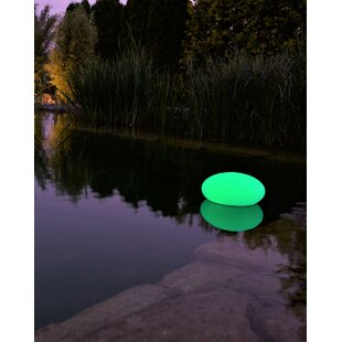 Faszcza White Solar Powered LED Outdoor Floating Light Image