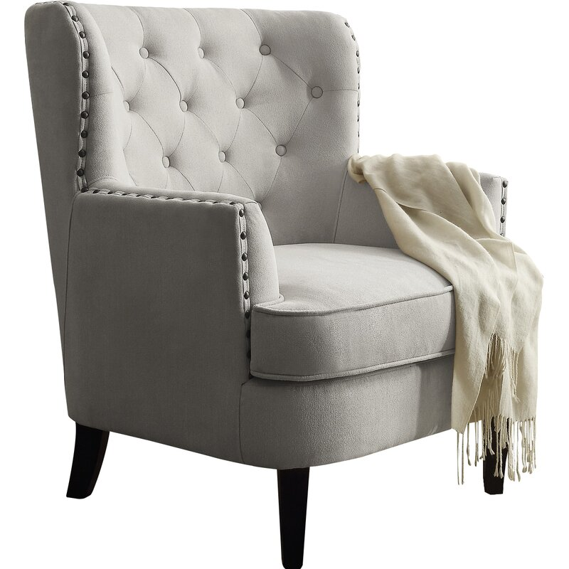 cream wingback armchair ivo wingback chair amp reviews joss amp main 13632 | Ivo Wingback Chair