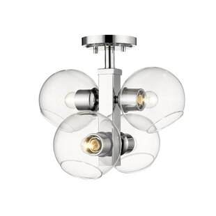 Gaines 4-Light Semi Flush ..