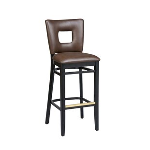 Dobbs Beechwood Square Open Back Bar Stool Latitude Run