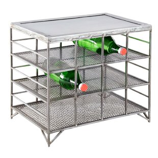 Mesh Metal 12-Bottle Floor Wine Rack by Z..