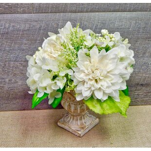 Deluxe Peony and Hydrangea Centerpiece in Urn