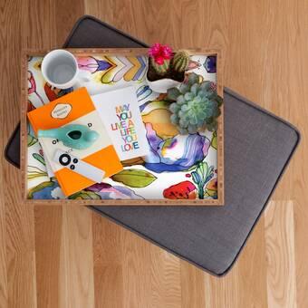 Deny Designs Ali Benyon Flower Waterfall Ottoman Coffee Table Tray Wayfair