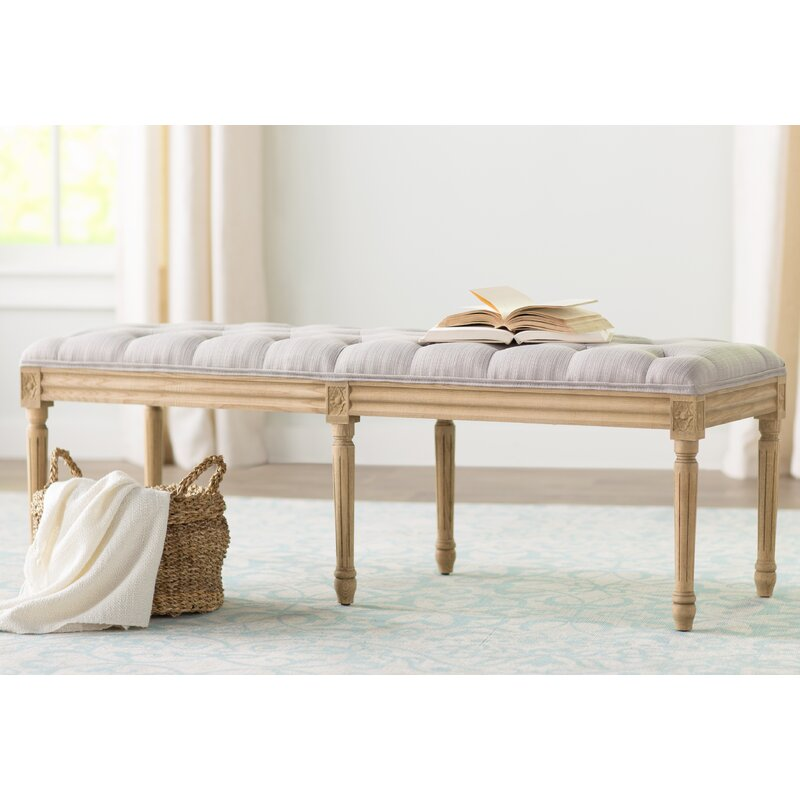 Ambre Upholstered Bench #frenchbench #tufting