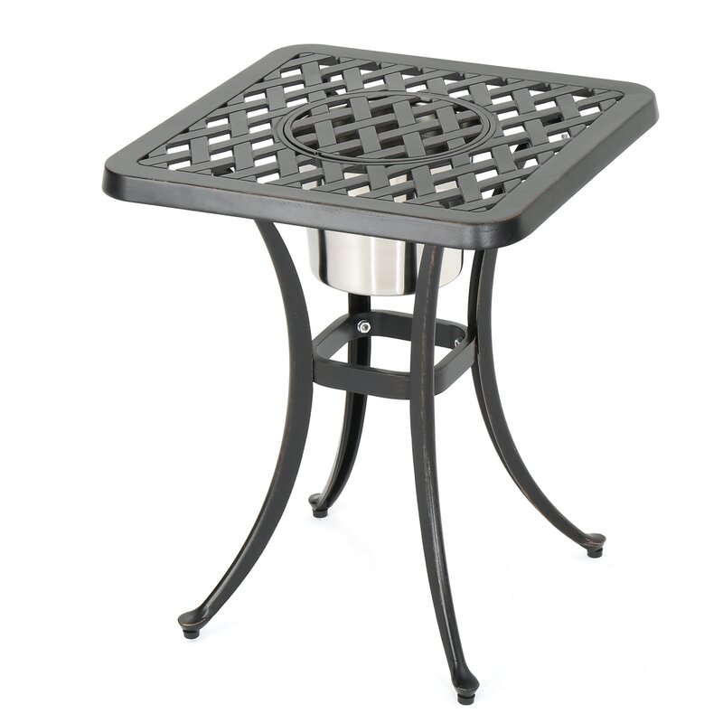 Parramore Cast Aluminum Bistro Table Reviews Joss Main