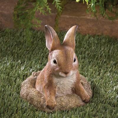 Curious Bunny Garden Decor Statue