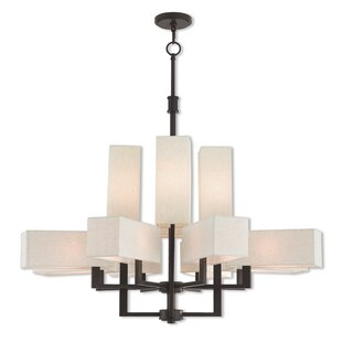 Latitude Run Bigham Shaded Chandelier