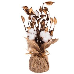 Natural Cotton Floral Arrangement