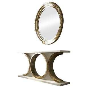 Review Laivai Console Table and Mirror Set By Everly Quinn