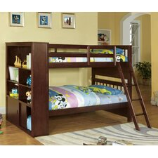 Oliver Twin over Twin Bunk Bed with Bookshelves by Red Barrel Studio