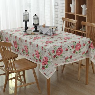 Lehner Rose Print Tablecloth