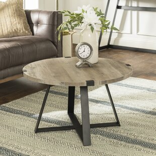 Compare prices Bowden Metal Wrap Coffee Table By Williston Forge