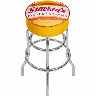 Stuckeys 31 Swivel Bar Stool by Trademark Global