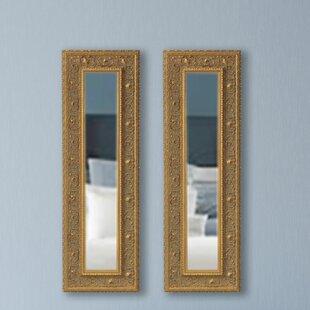 Astoria Grand Opulent Panel Accent Mirror (Set of 2)