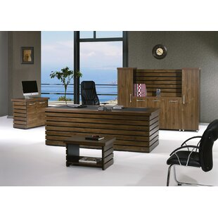 Corrigan Studio Lillyana Modern 4 Piece Desk Office Suite
