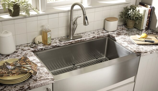 Guide to Kitchen Sink Styles | Wayfair on small kitchen lighting ideas, modern kitchen ideas, kitchen and living room ideas, kitchen bathroom, beautiful kitchen ideas, kitchen islands, green kitchen ideas, kitchen and eating area ideas, kitchen and den ideas, kitchen wall tile ideas, dream kitchen ideas, kitchen remodel better homes, kitchen and living room color schemes, kitchen counter ideas, kitchen decorating ideas, kitchen and living room with divider, kitchen upgrade ideas, kitchen and toilet ideas, kitchen color ideas with wood flooring, kitchen cabinets,