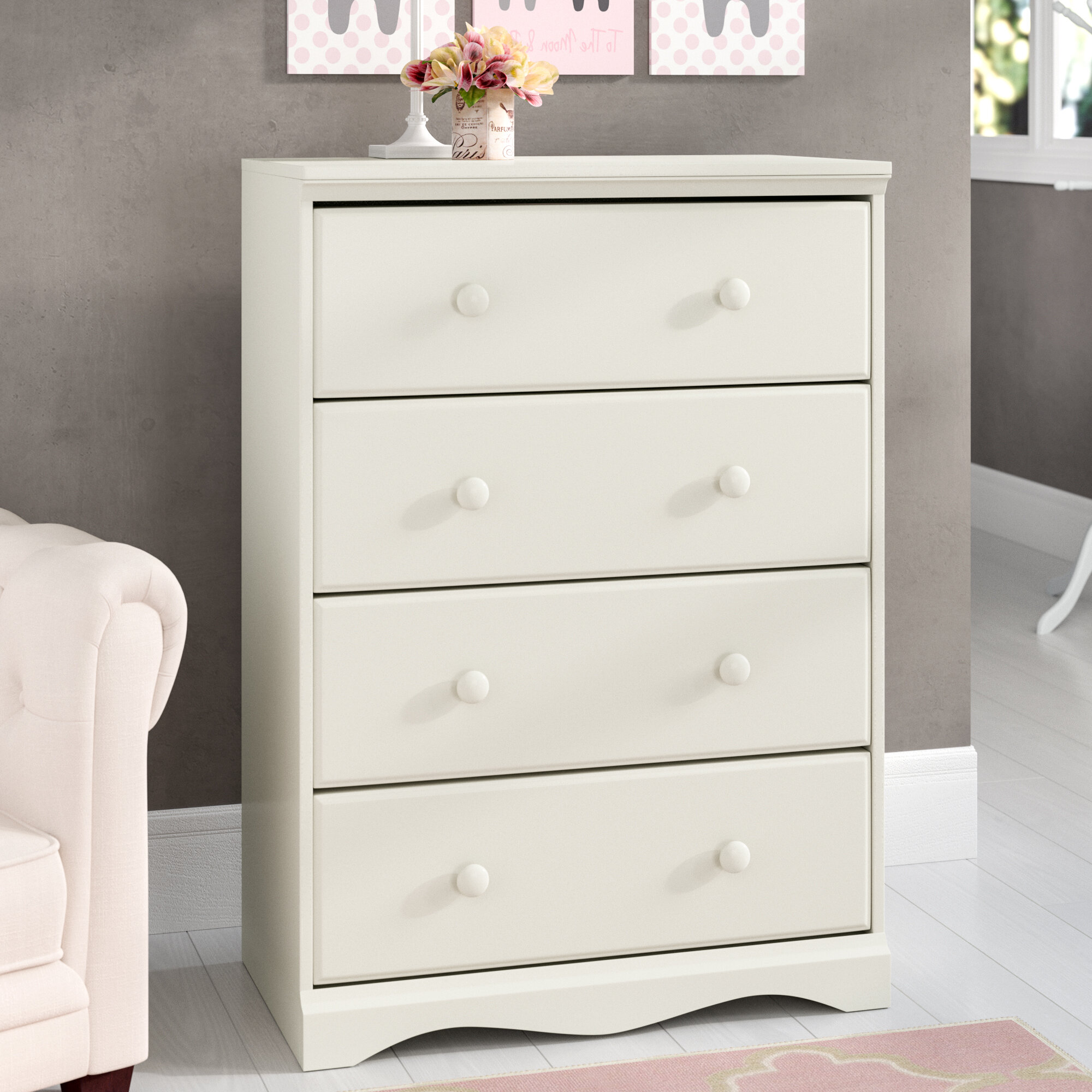 Three Posts Baby Kids Oundle 4 Drawer Chest Reviews Wayfair