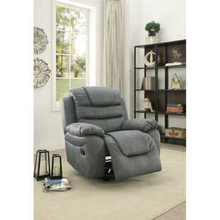 Dorney Leatherette Rocker Manual Recliner