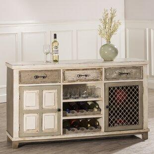 August Grove Zettie Bar Cabinet with wine storage