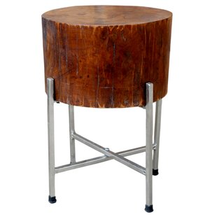 Solid Wood Block End Table by Foreign Affairs Home Decor