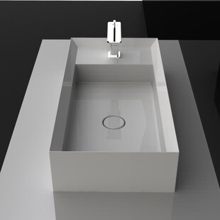 Coupon Cut Ceramic Rectangular Vessel Bathroom Sink By WS Bath Collections