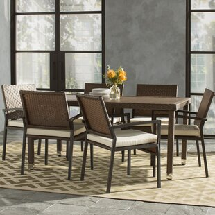 Indus 7 Piece Dining Set With Cushions