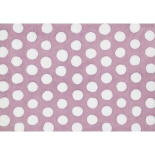 Great choice Broder Lilac/White Area Rug By Harriet Bee