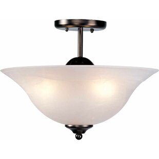 Minster 3-Light Semi Flush Mount by Volume Lighting