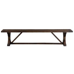 Millwood Pines Stalvey Trestle-Style Wood Dining Bench
