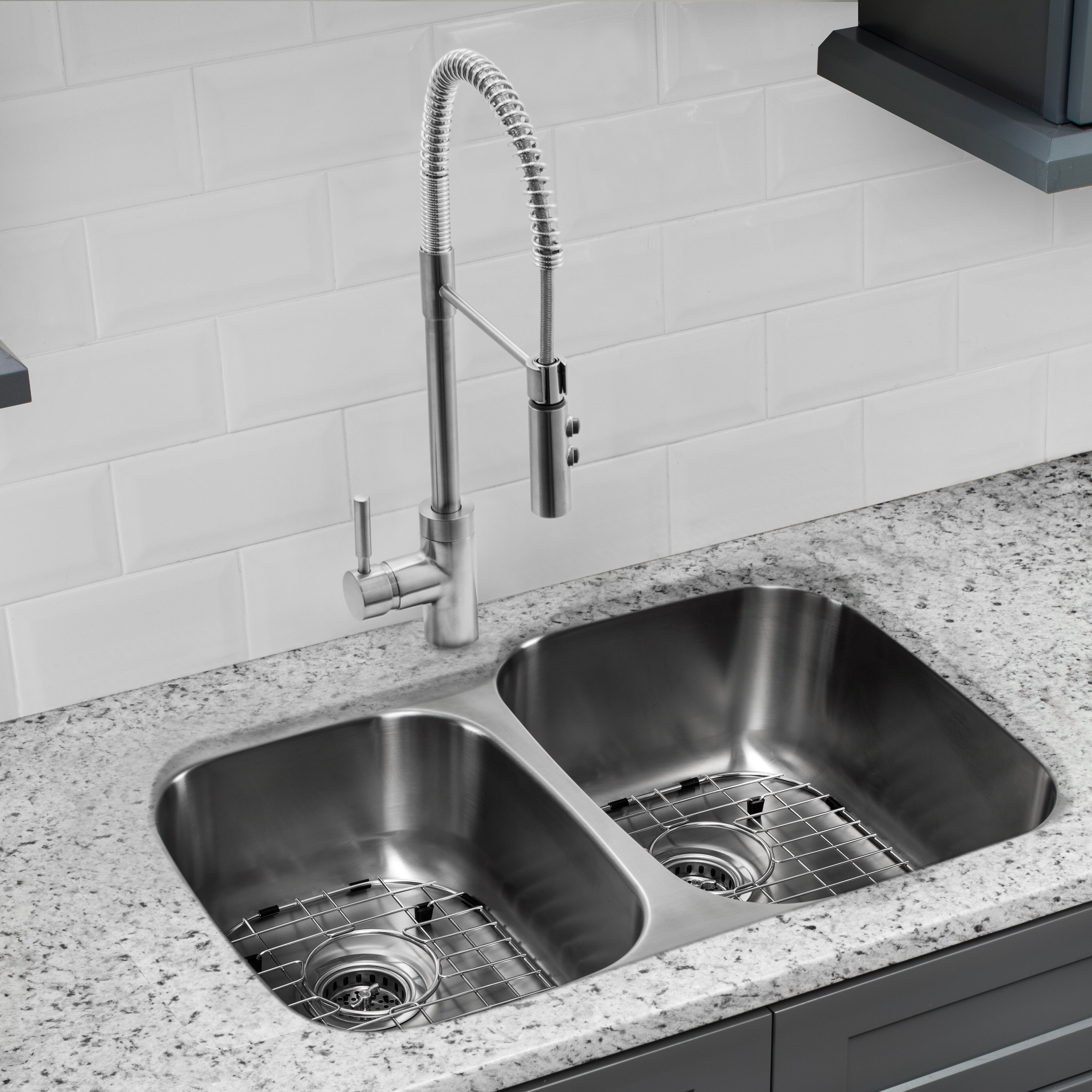 Cahaba 32 L X 21 W Double Basin Undermount Kitchen Sink With Faucet Wayfair
