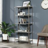 Aashika 63.39'' H x 31.85'' W Metal Etagere Bookcase by Red Barrel Studio®