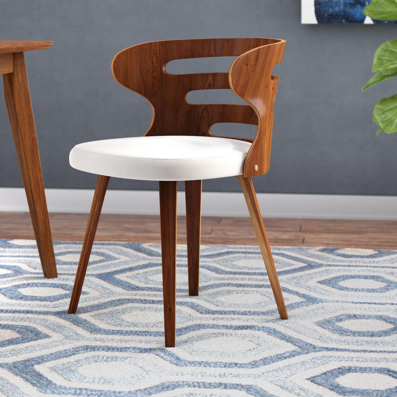 Wade Logan Baehr Mid Century Modern Upholstered Dining Chair Reviews Wayfair