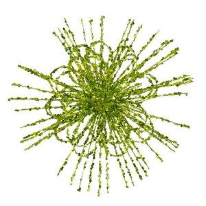 Glitter Flower Blossom Sequined Christmas Ornament