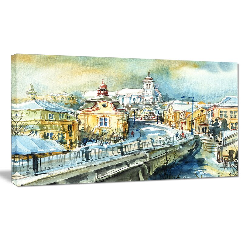Designart City Of Churches Painting Print On Wrapped Canvas Wayfair