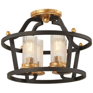 Helmer 4-Light Semi Flush Mount by Alcott Hill