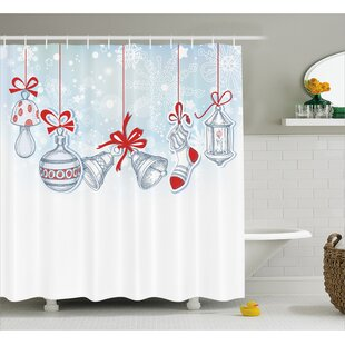 Buying Christmas Retro Decorations Shower Curtain By The Holiday Aisle
