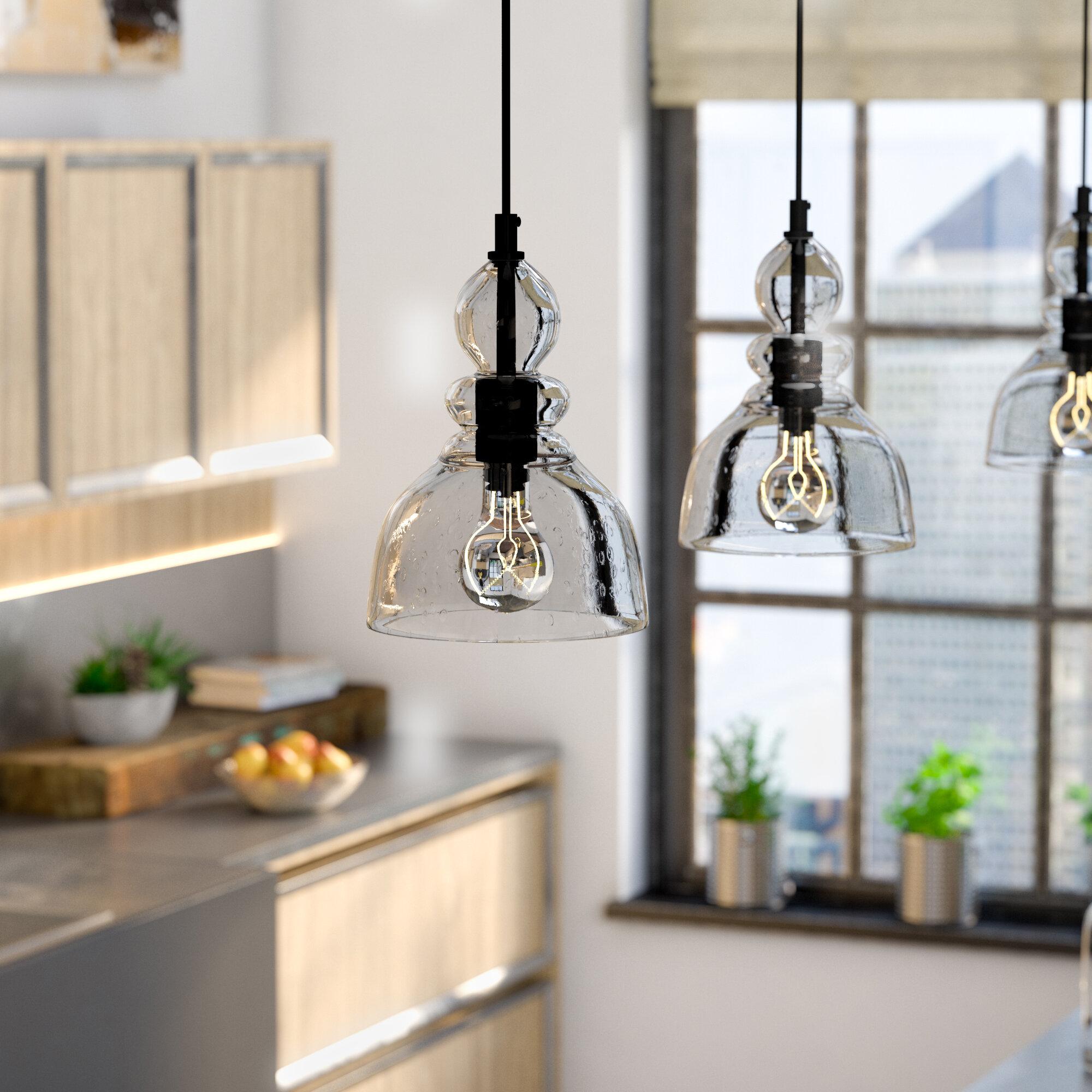 Ebern Designs Yarger 1 Light Single Dome Pendant Reviews Wayfair