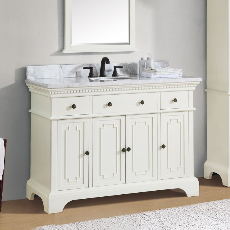 Ophelia Co Ruthann Marble Top 49 Single Bathroom Vanity Set Reviews Wayfair