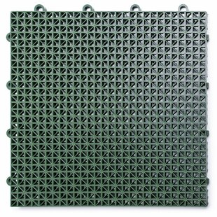 12 X Plastic Interlocking Deck Tile In Green