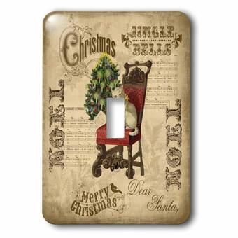 3drose Le Chat Noel 1 Gang Toggle Light Switch Wall Plate Wayfair