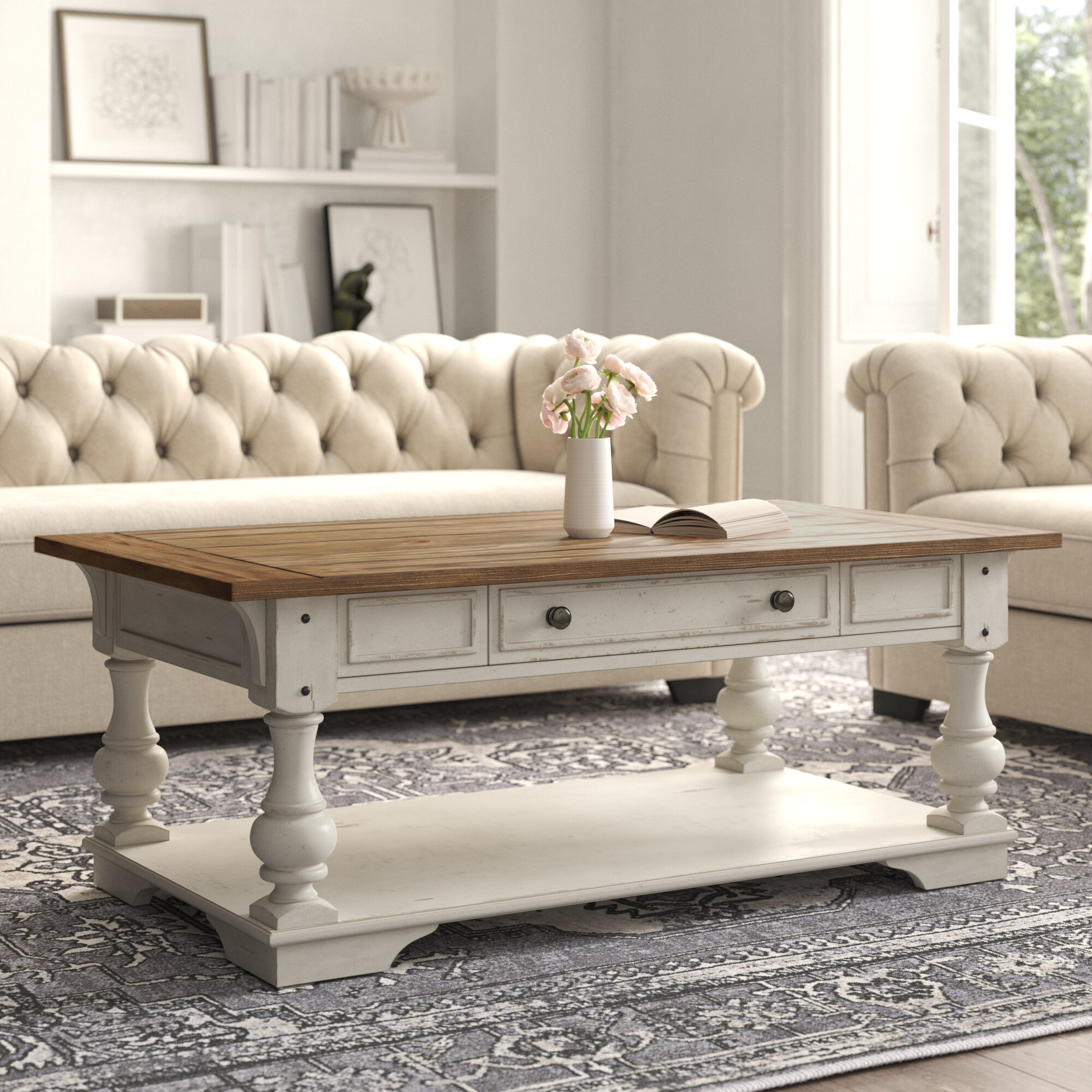 Kelly Clarkson Home Belle Meade Solid Wood Coffee Table With Storage Reviews Wayfair